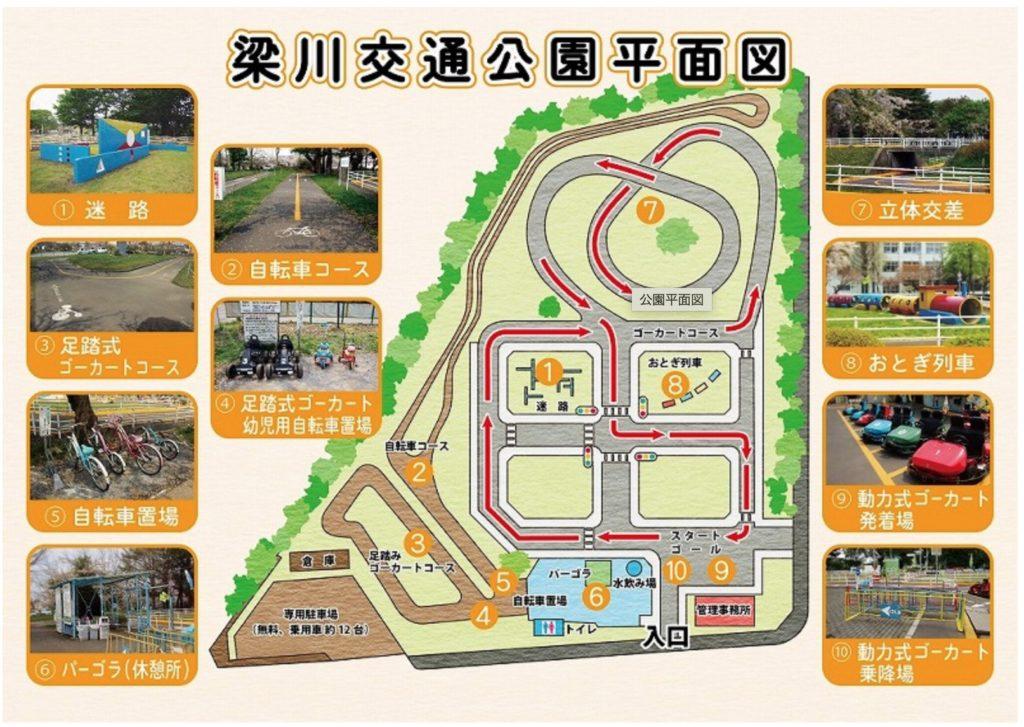 梁川公園平面図