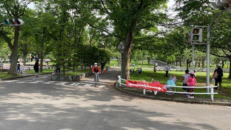 農試公園 交通コーナー