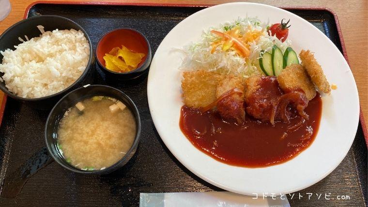 ポークチャップカツレツ定食